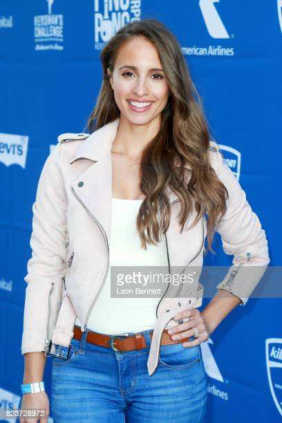 Vanessa Grimaldi at Clayton Kershaw's 5th Annual Ping Pong 4 Purpose Celebrity Tournament at Dodger Stadium on July 27 2017 in Los Angeles California