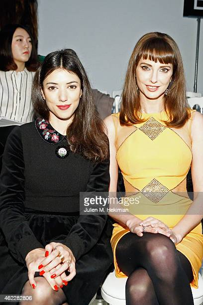 Vanessa Guide and Frederique Bel attend the Georges Hobeika Haute Couture Spring/Summer 2015 Show as part of Paris Fashion Week on January 26 2015 in...
