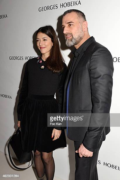 Vanessa Guide and Georges Hobeika attend the Georges Hobeika show as part of Paris Fashion Week Haute Couture Spring/Summer 2015 on January 26 2015...