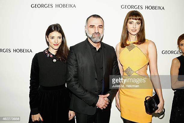 Vanessa Guide designer Georges Hobeika and Frederique Bel attend the Georges Hobeika Haute Couture Spring/Summer 2015 Show as part of Paris Fashion...