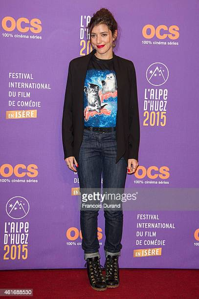 Vanessa Guide poses before the closing ceremony of the 18th L'Alpe D'Huez International Comedy Film Festival in l'Alpe d'Huez France