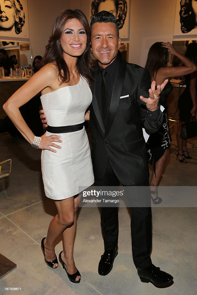 Vanessa Hauc and Jorge Bernal attend Miami Hair Beauty and Fashion 2013 by Rocco Donna on November 7, 2013 in Miami, Florida.
