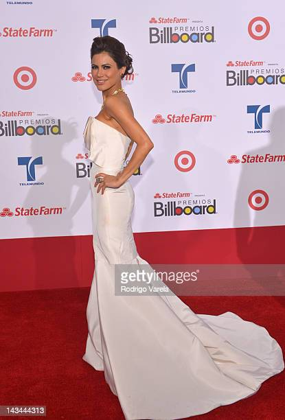 Vanessa Hauc arrives at the Billboard Latin Music Awards 2012 at Bank United Center on April 26 2012 in Miami Florida