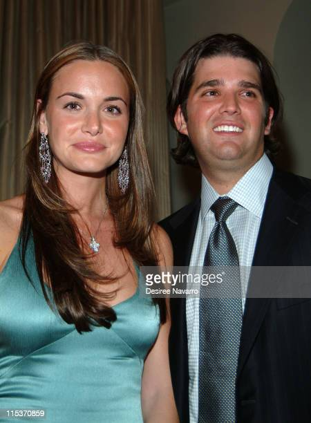 Vanessa Haydon and Donald Trump Jr during Donald Trump Hosts the Opening Night Reception of 'Veranda New York's Best at Trump Park Avenue The...