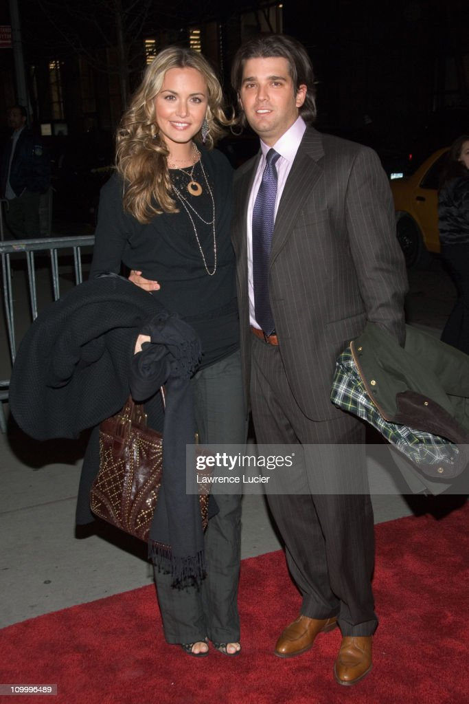 Vanessa Haydon and Donald Trump Jr. during The Sopranos Sixth Season New York City Premiere - Outside Arrivals at Museum of Modern Art in New York City, New York, United States.