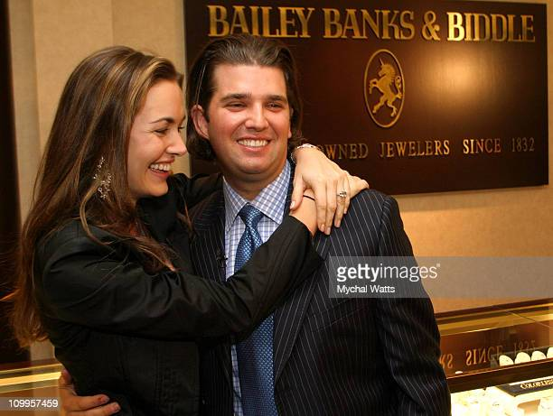 Vanessa Haydon fiance and Donald Trump Jr during Bailey Banks and Biddle Fine Jewelers Provides Diamond Engagement Ring for Donald Trump Jr's Fiancee...