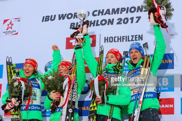 Vanessa Hinz of Germany wins the gold medal Maren Hammerschmidt of Germany wins the gold medal Franziska Hildebrand of Germany wins the gold medal...