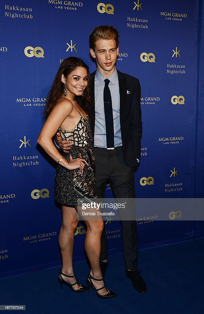 Vanessa Hudgens and <a gi-track='captionPersonalityLinkClicked' href=/galleries/search?phrase=Austin+Butler&family=editorial&specificpeople=5626394 ng-click='$event.stopPropagation()'>Austin Butler</a> arrive at the grand opening of Hakkasan Nightclub at the MGM Grand on April 27, 2013 in Las Vegas, Nevada.