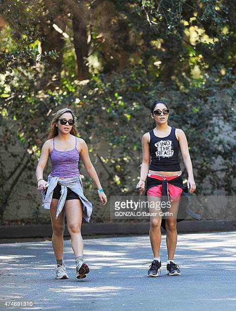 Vanessa Hudgens and her sister Stella are seen on October 29 2012 in Los Angeles California