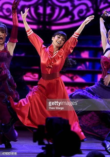 Vanessa Hudgens and the cast of 'Gigi' perform onstage at the 2015 Tony Awards at Radio City Music Hall on June 7 2015 in New York City