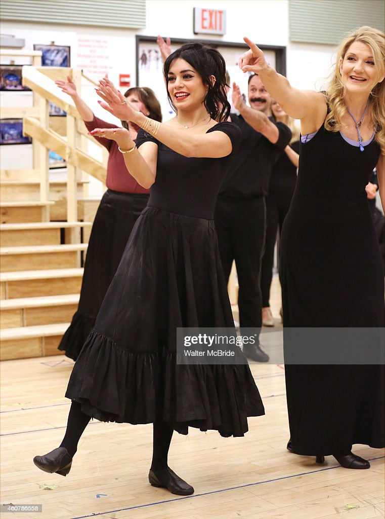 Vanessa Hudgens and Victoria Clark perform in the preview performance of The New Broadway Production of Lerner and Loewe's 'Gigi' at The New 42nd...