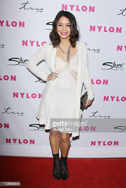 Vanessa Hudgens arrives at NYLON Magazine 12th Anniversary issue party with the 'Sucker Punch' cast held at Tru Hollywood on March 24 2011 in...