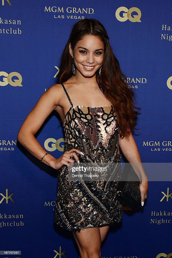 Vanessa Hudgens arrives at the grand opening of Hakkasan Nightclub at the MGM Grand on April 27, 2013 in Las Vegas, Nevada.