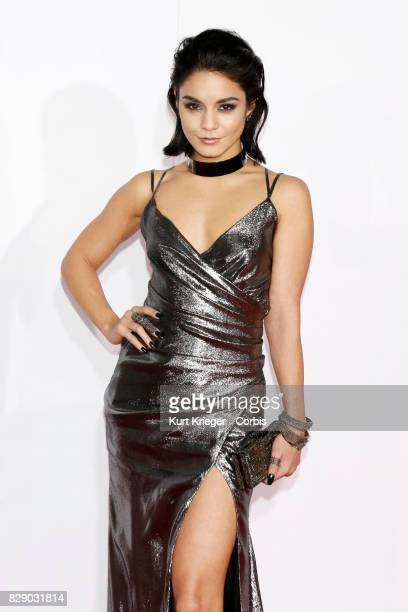 Image has been digitally retouched Vanessa Hudgens arrives at the People's Choice Awards 2016 in Los Angeles CA on January 06 2016