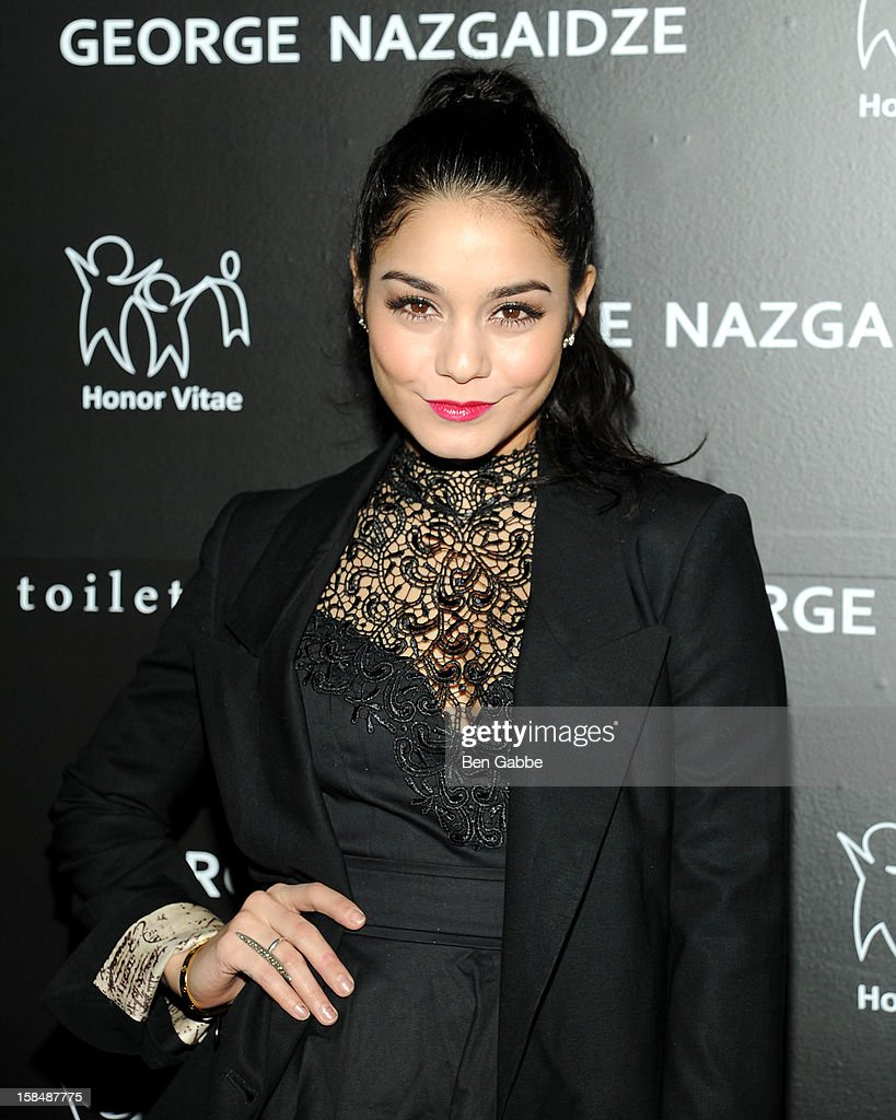 Vanessa Hudgens attends Charity Meets Fashion Holiday Celebration Honoring The World's Children at Affirmation Arts on December 17, 2012 in New York City.