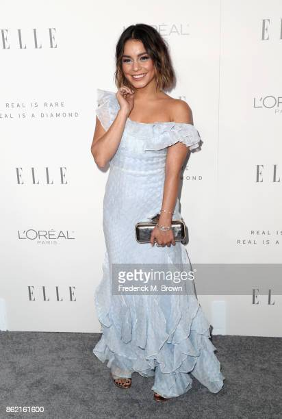 Vanessa Hudgens attends ELLE's 24th Annual Women in Hollywood Celebration at Four Seasons Hotel Los Angeles at Beverly Hills on October 16 2017 in...