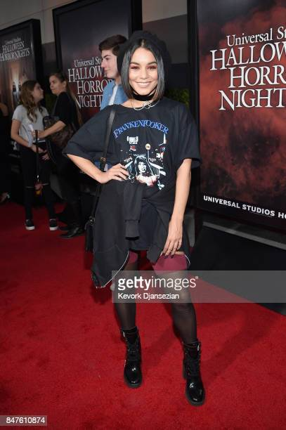 Vanessa Hudgens attends Halloween Horror Nights Opening Night Red Carpet at Universal Studios Hollywood on September 15 2017 in Universal City...