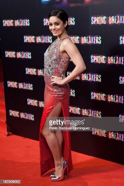 Vanessa Hudgens attends 'Spring Breakers' premiere at Capitol Cinema on February 21 2013 in Madrid Spain