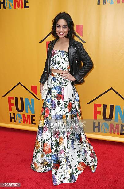 Vanessa Hudgens attends the Broadway Opening Performance of 'Fun Home' at Circle in the Square Theatre on April 19 2015 in New York City