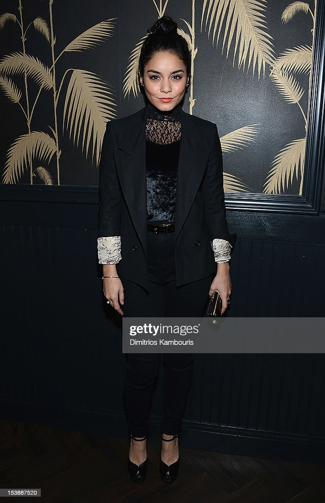 Vanessa Hudgens attends The Cinema Society with Hugo Boss and Appleton Estate screening of 'Seven Psychopaths' at No. 8 on October 10, 2012 in New York City.