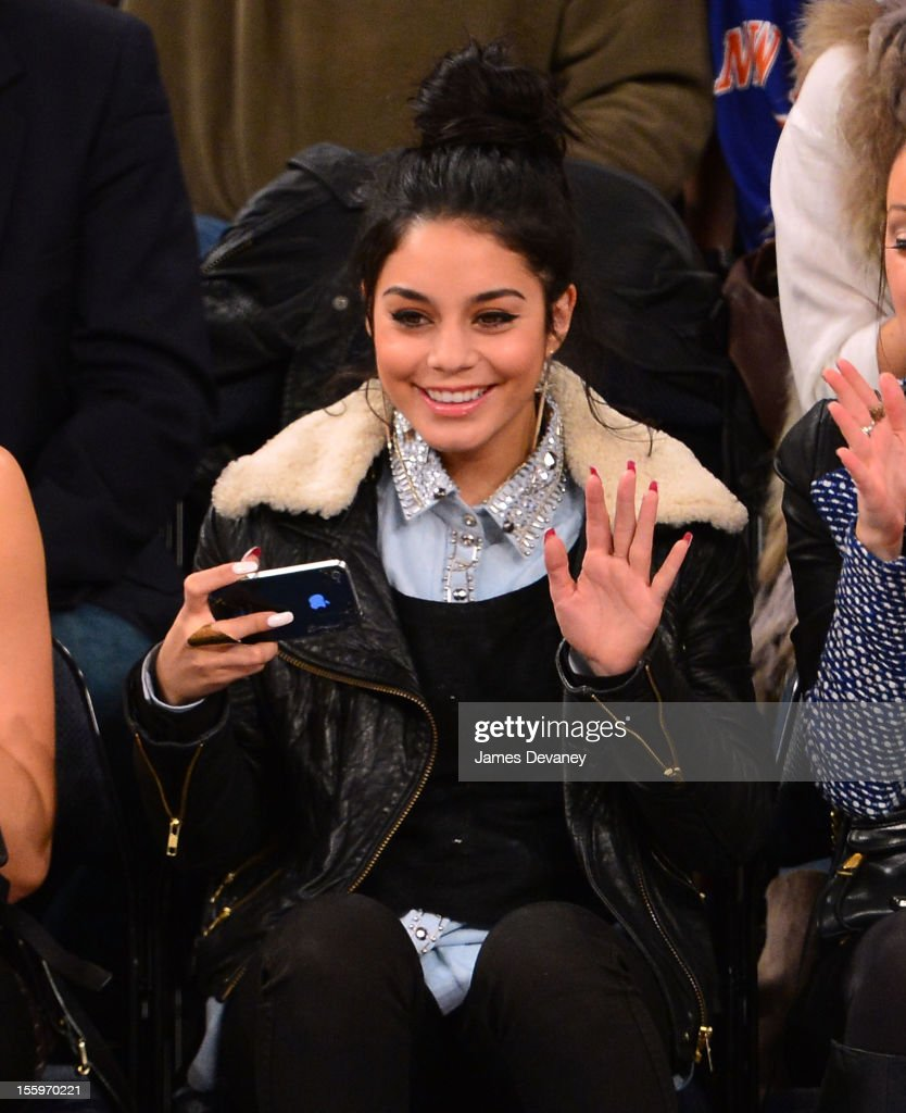 Vanessa Hudgens attends the Dallas Mavericks vs New York Knicks game at Madison Square Garden on November 9, 2012 in New York City.