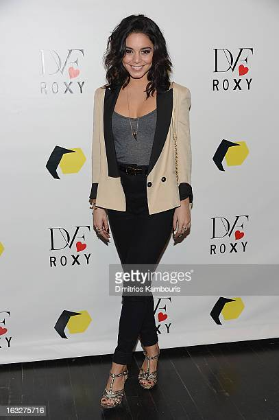 Vanessa Hudgens attends the DVF Loves ROXY Launch at ROXY on March 6 2013 in New York City