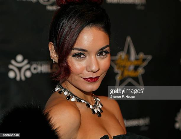 Vanessa Hudgens attends the Hollywood Domino Dallas charity event at The Empire Room on November 8 2014 in Dallas Texas