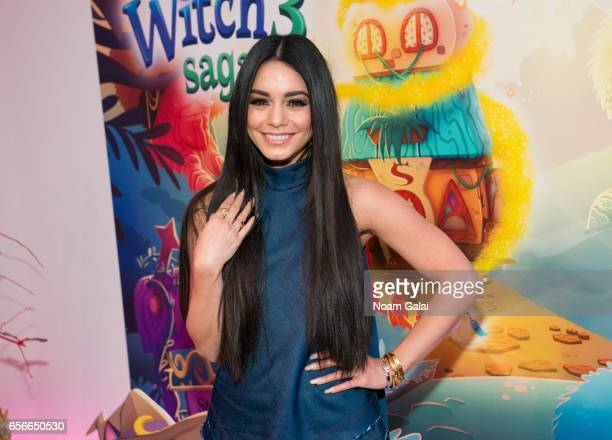Vanessa Hudgens attends the launch of 'Bubble Witch 3 Saga' at Venue 57 on March 22 2017 in New York City