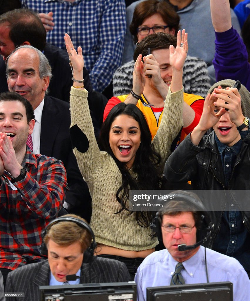 Vanessa Hudgens attends the Los Angeles Lakers vs New York Knicks game at Madison Square Garden on December 13, 2012 in New York City.