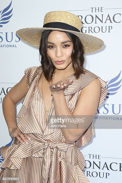 Vanessa Hudgens attends the Pegasus World Cup at Gulfstream Park on January 28 2017 in Hallandale Florida