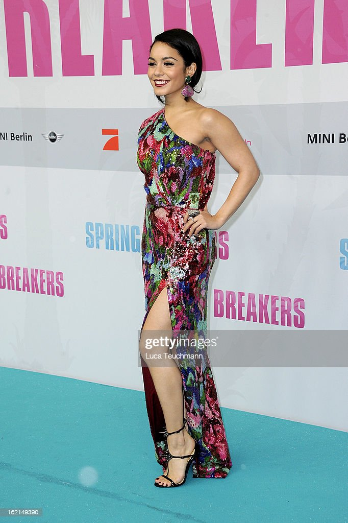 Vanessa Hudgens attends the premiere of 'Spring Breakers' at Sony Center on February 19, 2013 in Berlin, Germany.