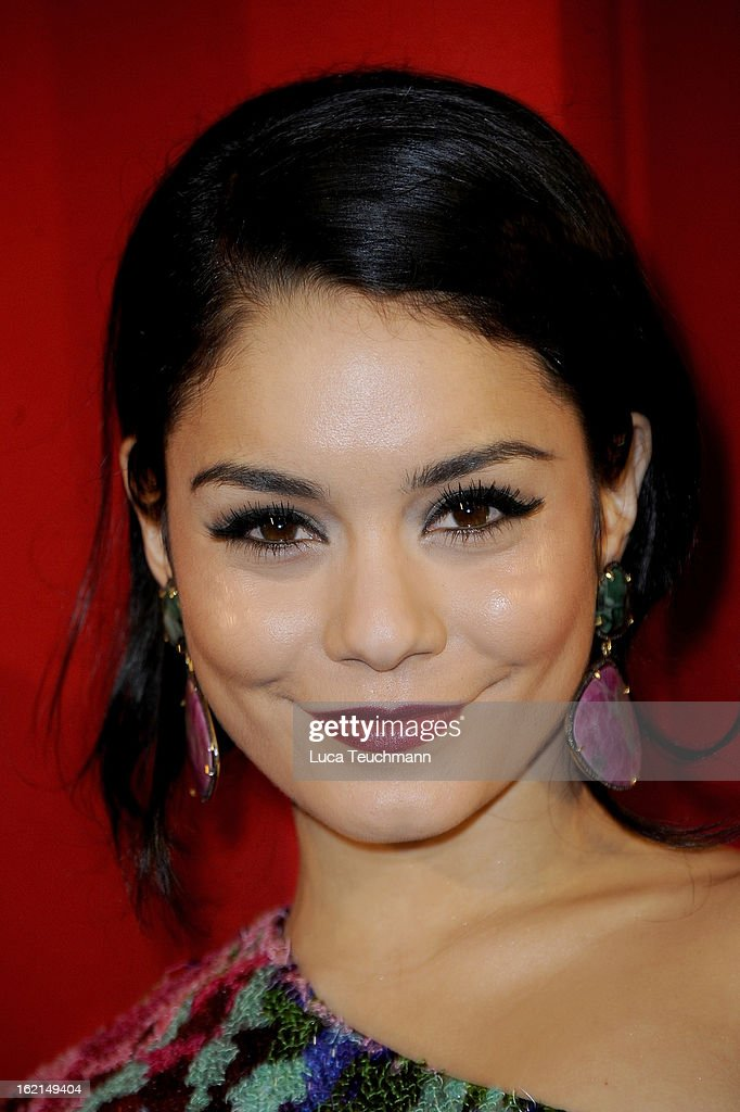 Vanessa Hudgens attends the premiere of ''Spring Breakers' at Sony Center on February 19, 2013 in Berlin, Germany.
