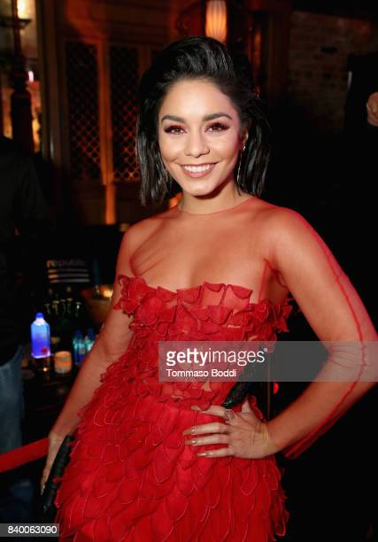 Vanessa Hudgens attends the VMA after party hosted by Republic Records and Cadillac at TAO restaurant at the Dream Hotel on August 27 2017 in Los...
