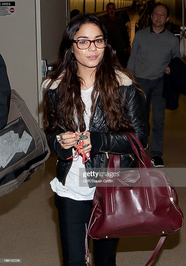 Vanessa Hudgens is seen arriving at LAX airport on November 15, 2013 in Los Angeles, California.