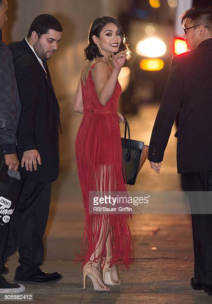 Vanessa Hudgens is seen at 'Jimmy Kimmel Live' on January 20 2016 in Los Angeles California