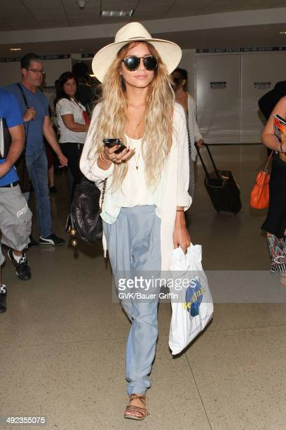 Vanessa Hudgens is seen at LAX on May 19 2014 in Los Angeles California