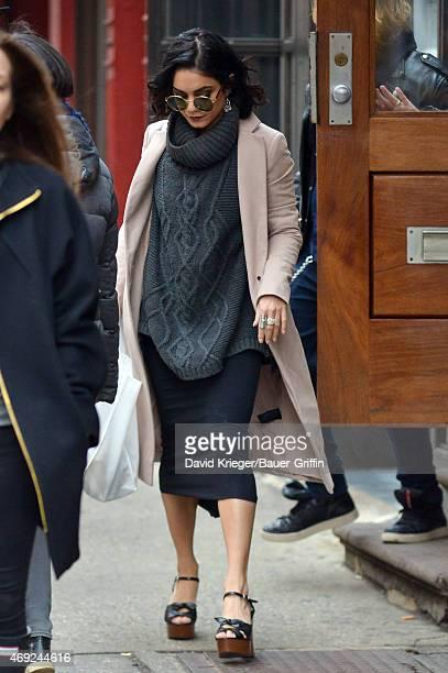 Vanessa Hudgens is seen in downtown Manhattan on April 10 2015 in New York City