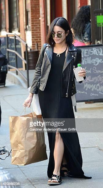 Vanessa Hudgens is seen in New York City on April 19 2015 in New York City