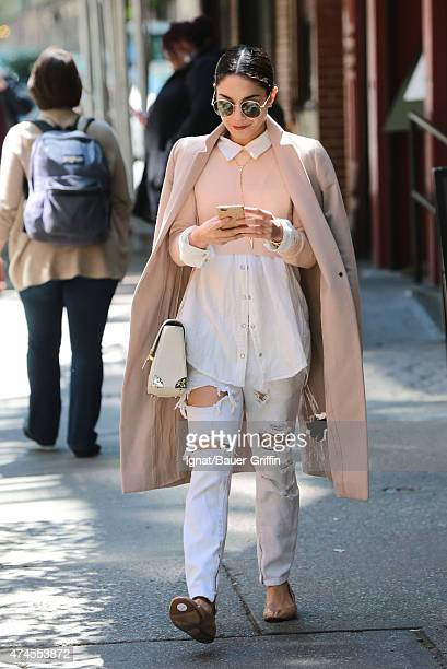 Vanessa Hudgens is seen in New York City on May 23 2015 in New York City