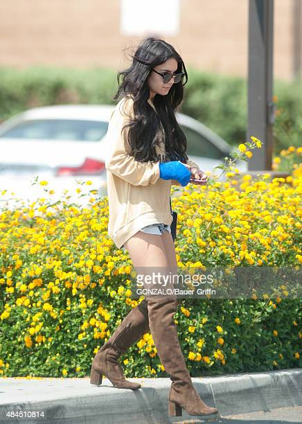 Vanessa Hudgens is seen on August 19 2015 in Los Angeles California