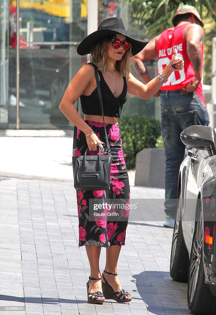 Vanessa Hudgens is seen on August 22, 2014 in Los Angeles, California.
