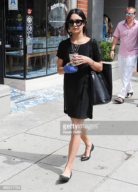 Vanessa Hudgens is seen on August 25 2015 in Los Angeles California