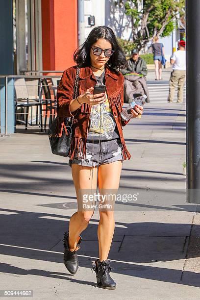 Vanessa Hudgens is seen on February 10 2016 in Los Angeles California