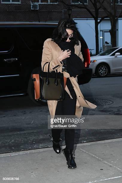 Vanessa Hudgens is seen on January 18 2016 in New York City