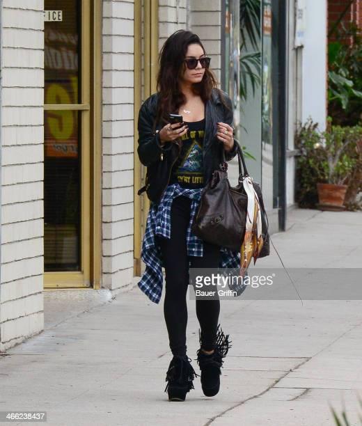 Vanessa Hudgens is seen on January 31 2014 in Los Angeles California