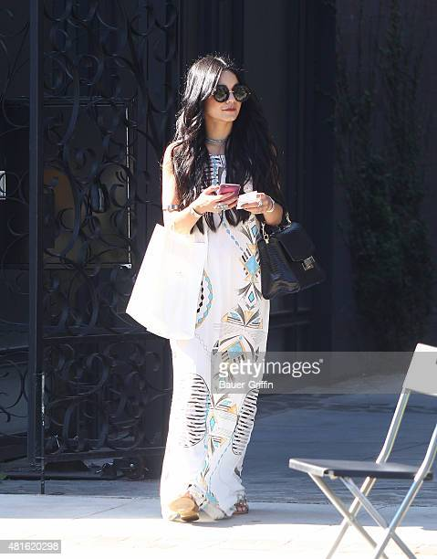 Vanessa Hudgens is seen on July 22 2015 in Los Angeles California