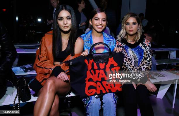 Vanessa Hudgens Isabela Moner and Ashley Benson attend Jeremy Scott collection during the September 2017 New York Fashion Week The Shows on September...
