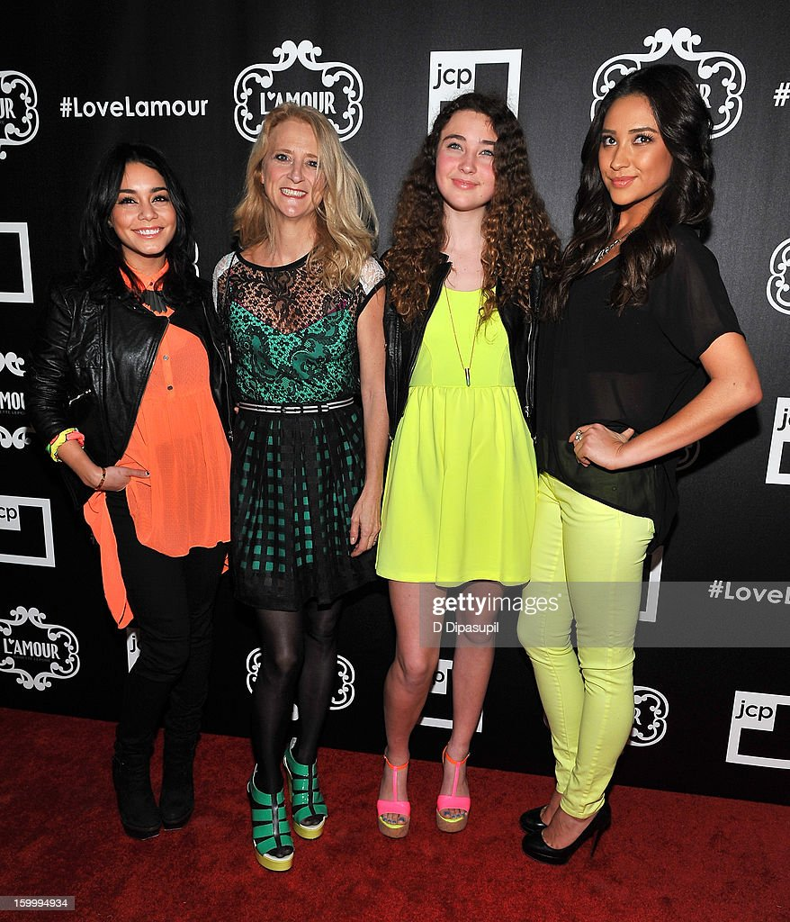 Vanessa Hudgens, <a gi-track='captionPersonalityLinkClicked' href=/galleries/search?phrase=Nanette+Lepore+-+Fashion+Designer&family=editorial&specificpeople=5410475 ng-click='$event.stopPropagation()'>Nanette Lepore</a>, Violet Lepore, and <a gi-track='captionPersonalityLinkClicked' href=/galleries/search?phrase=Shay+Mitchell&family=editorial&specificpeople=6886213 ng-click='$event.stopPropagation()'>Shay Mitchell</a> attend the L'Amour By <a gi-track='captionPersonalityLinkClicked' href=/galleries/search?phrase=Nanette+Lepore+-+Fashion+Designer&family=editorial&specificpeople=5410475 ng-click='$event.stopPropagation()'>Nanette Lepore</a> For JCP Launch Party at Good Units on January 24, 2013 in New York City.
