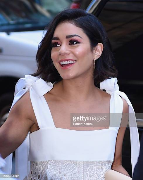Vanessa Hudgens seen arriving HM store in Timesquare on June 21 2017 in New York City