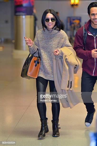 Vanessa Hudgens seen at JFK Airport on January 17 2016 in New York City